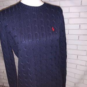 Ralph Lauren Sport - cable knit sweater- XL